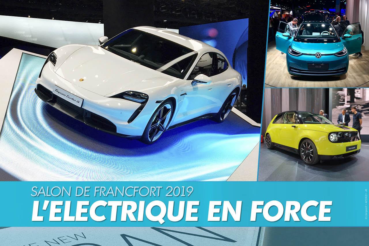 Les modèles électriques du salon de Francfort 2019