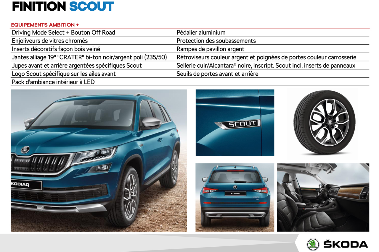 skoda kodiaq scout et sportline deux nouvelles versions du suv skoda photo 6 l 39 argus. Black Bedroom Furniture Sets. Home Design Ideas
