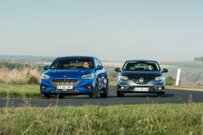 Match Ford Focus 2018 et Renault Mégane action avant
