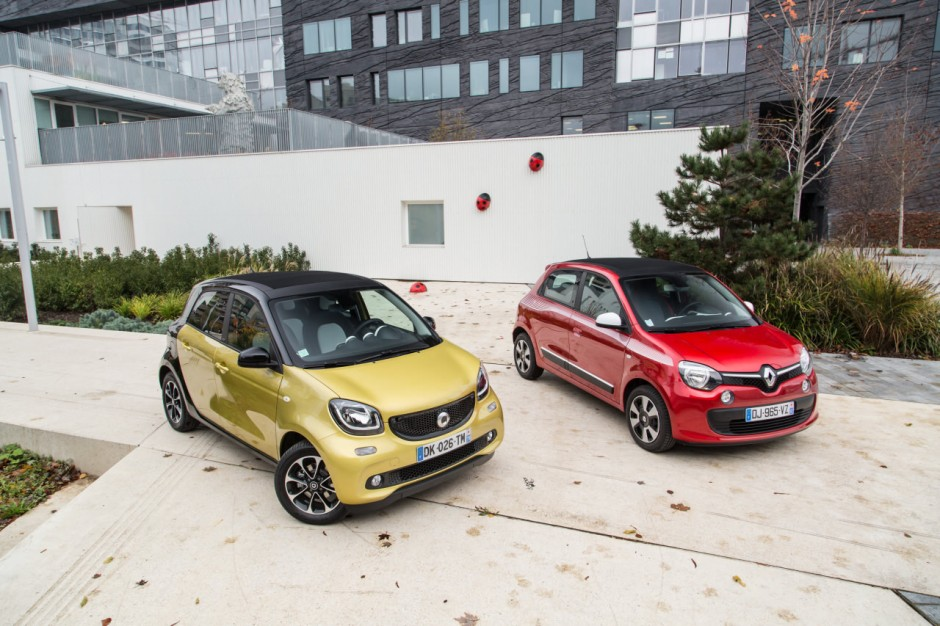 essai comparatif smart forfour ii vs renault twingo iii photo 4 l 39 argus. Black Bedroom Furniture Sets. Home Design Ideas