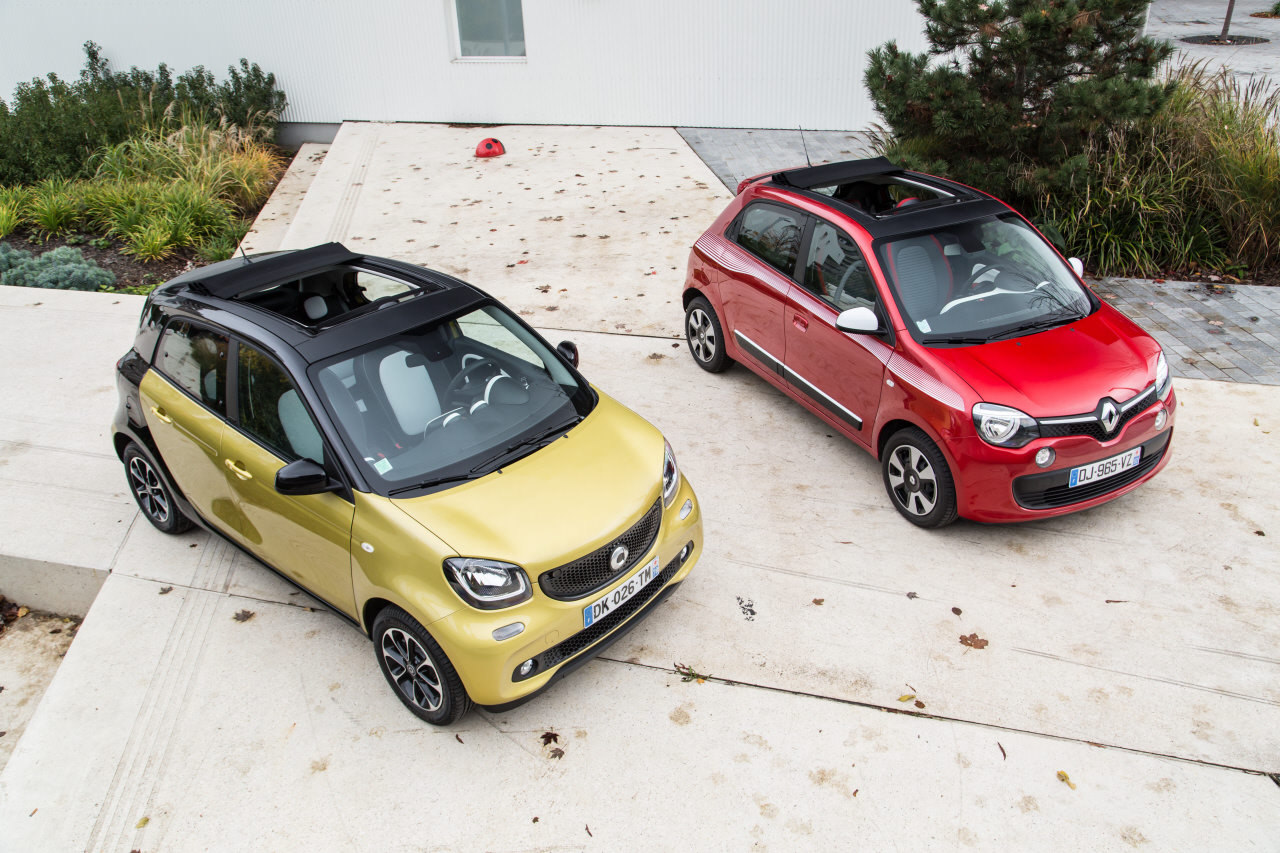 essai comparatif smart forfour ii vs renault twingo iii photo 5 l 39 argus. Black Bedroom Furniture Sets. Home Design Ideas