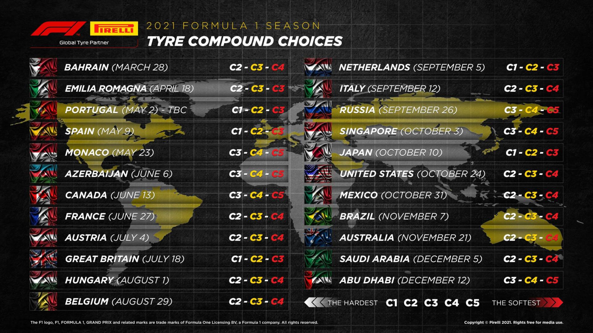 Calendrier Roulage Moto 2022 F1 2021. Écuries, pilotes, calendrier et horaires des Grands Prix