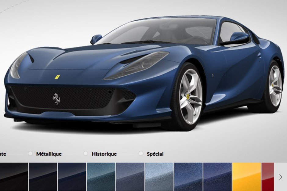 configurez votre propre ferrari 812 superfast photo 2 l 39 argus. Black Bedroom Furniture Sets. Home Design Ideas
