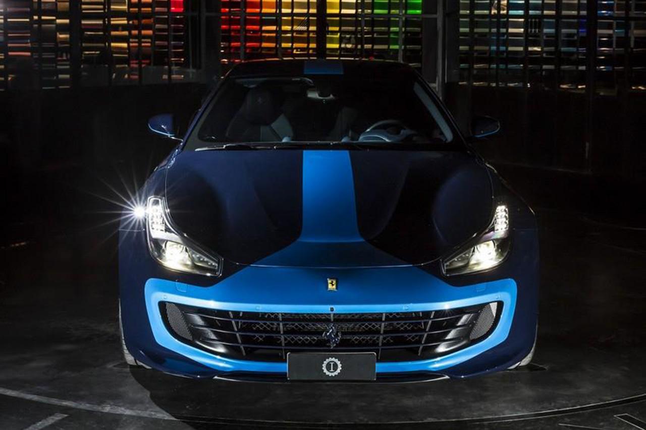 ferrari gtc4lusso azzurra un mod le unique par garage italia photo 2 l 39 argus. Black Bedroom Furniture Sets. Home Design Ideas