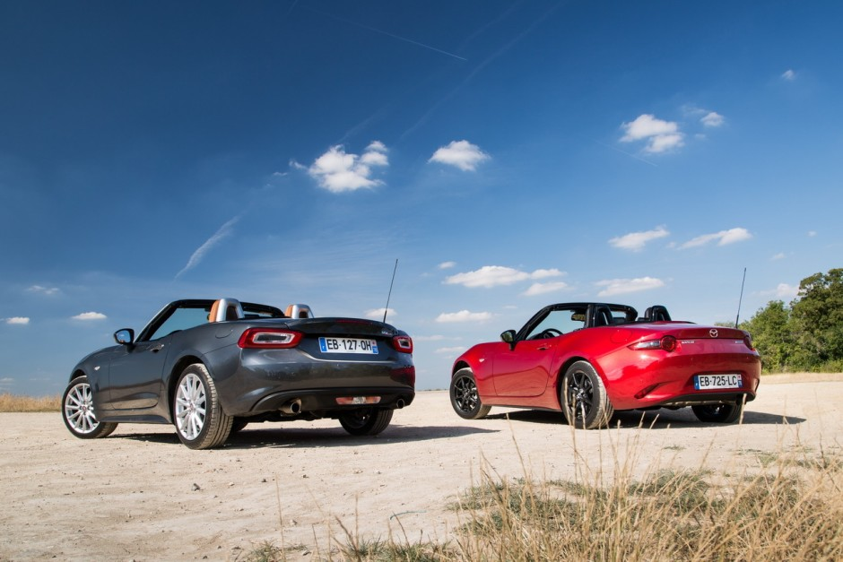 essai comparatif fiat 124 spider vs mazda mx 5 les s urs ennemies photo 40 l 39 argus. Black Bedroom Furniture Sets. Home Design Ideas
