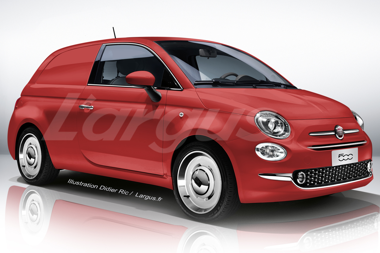 l 39 utilitaire virtuel du vendredi 2 la fiat 500 jardini re photo 1 l 39 argus. Black Bedroom Furniture Sets. Home Design Ideas