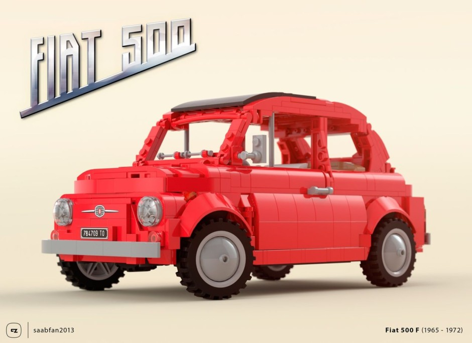 le top 50 des fiat 500 insolites fiat 500 lego l 39 argus. Black Bedroom Furniture Sets. Home Design Ideas