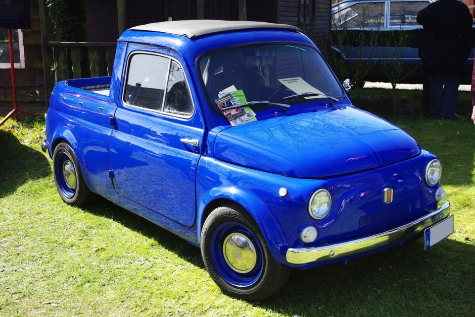 le top 50 des fiat 500 insolites fiat 500 pick up l 39 argus. Black Bedroom Furniture Sets. Home Design Ideas