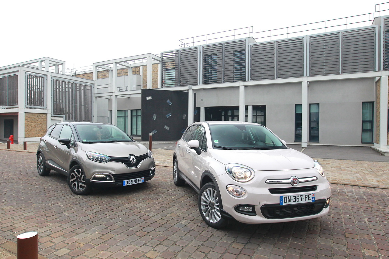 essai comparatif fiat 500x vs renault captur le match des suv essence photo 33 l 39 argus. Black Bedroom Furniture Sets. Home Design Ideas