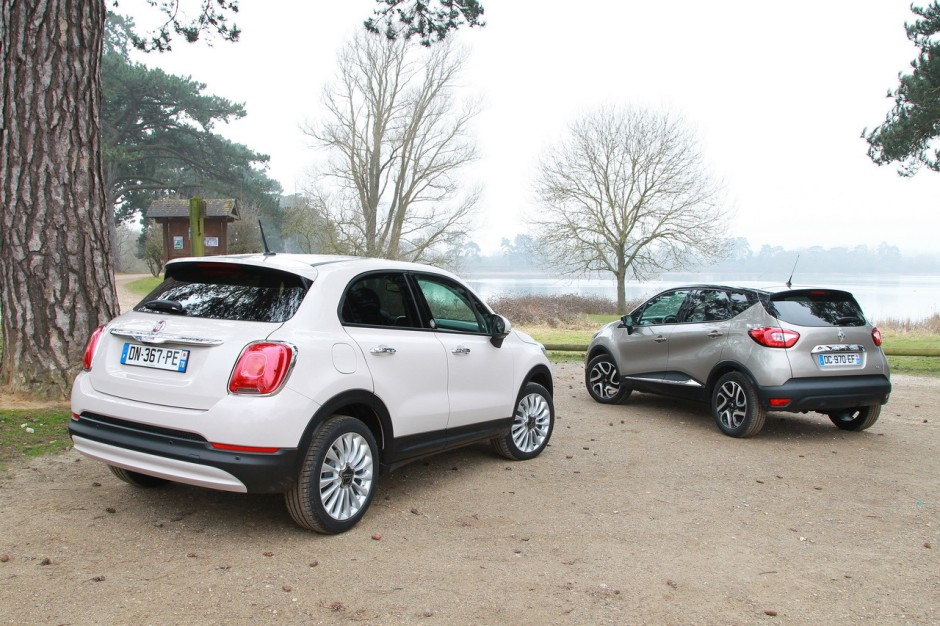 essai comparatif fiat 500x vs renault captur le match des suv essence photo 34 l 39 argus. Black Bedroom Furniture Sets. Home Design Ideas