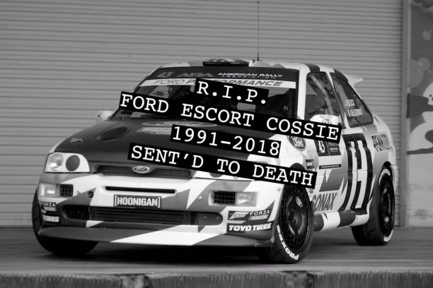 la ford escort cosworth de ken block partie en fum e vid o l 39 argus. Black Bedroom Furniture Sets. Home Design Ideas