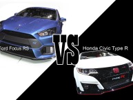 Ford Focus RS vs Honda Civic Type R (2015) : premier match... à Genève