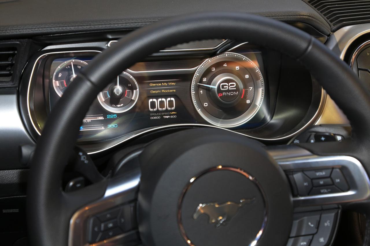 ces 2016 la ford mustang s 39 offre un cockpit virtuel merci delphi photo 2 l 39 argus. Black Bedroom Furniture Sets. Home Design Ideas