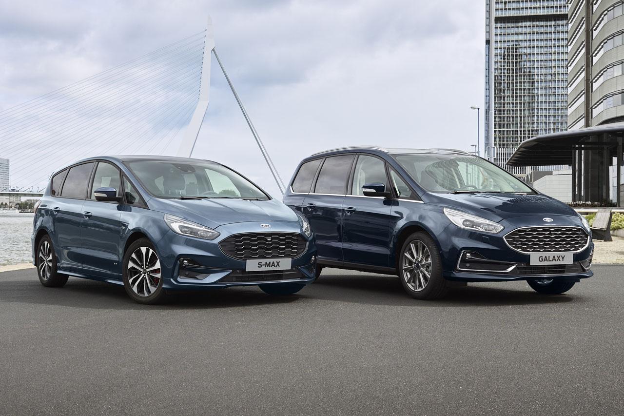 Ford S-Max et Galaxy Hybrid: une version hybride pour 2021