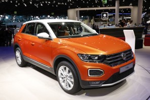 volkswagen t-roc orange au salon de francfort 2017