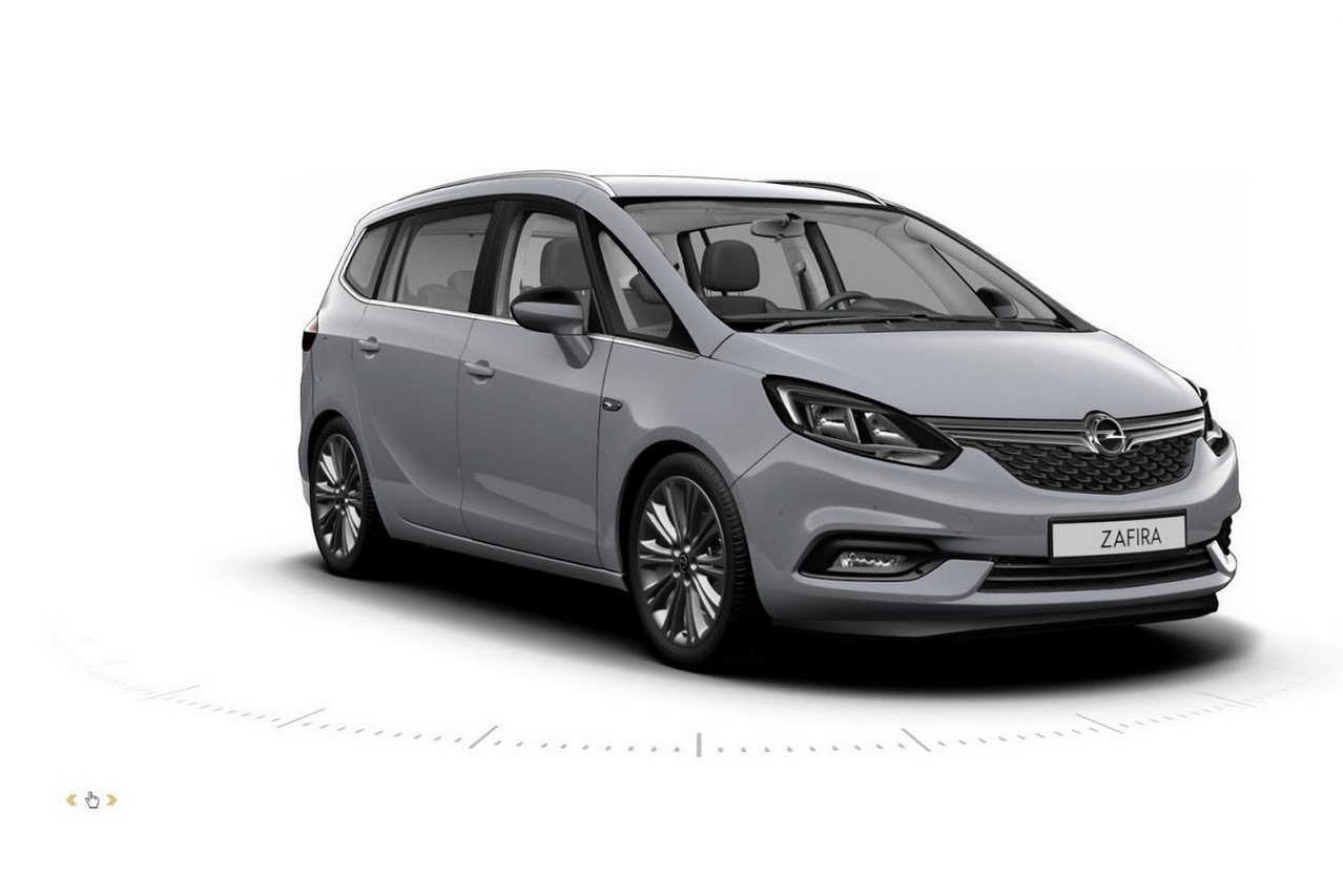 opel zafira tourer 2016 les photos du configurateur. Black Bedroom Furniture Sets. Home Design Ideas