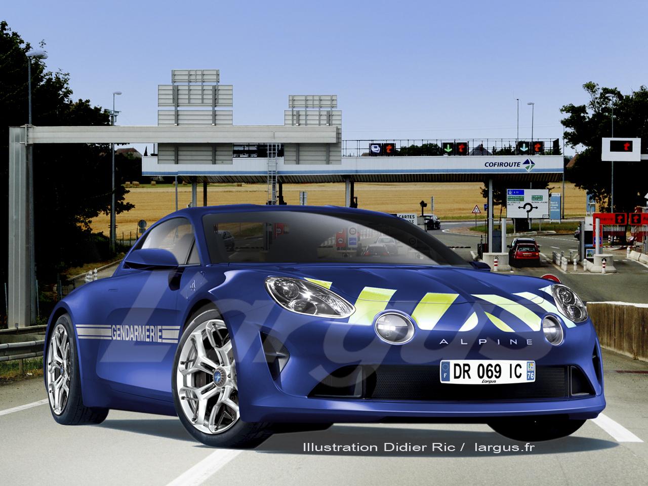 Et si ? : la future Alpine était livrée à la gendarmerie ...