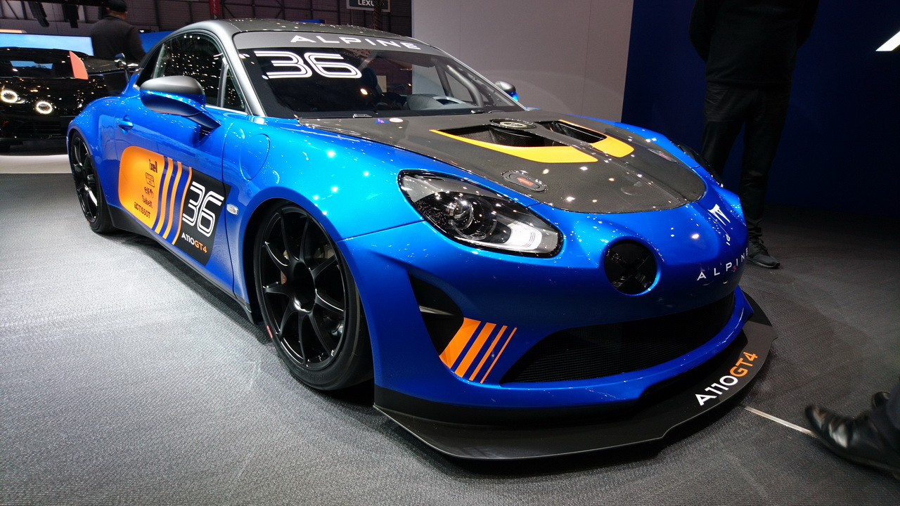 alpine a110 gt4 l 39 alpine de comp tition au salon de gen ve 2018 photo 1 l 39 argus. Black Bedroom Furniture Sets. Home Design Ideas