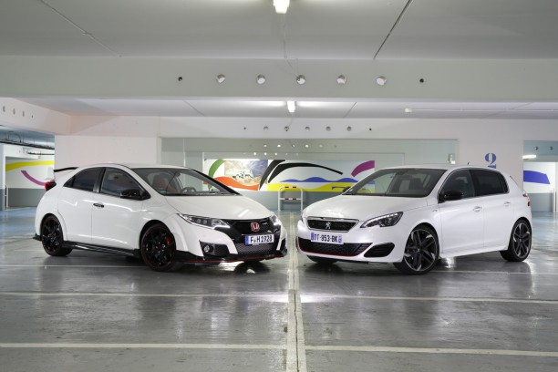 essai comparatif honda civic type r vs peugeot 308 gti le match l 39 argus. Black Bedroom Furniture Sets. Home Design Ideas