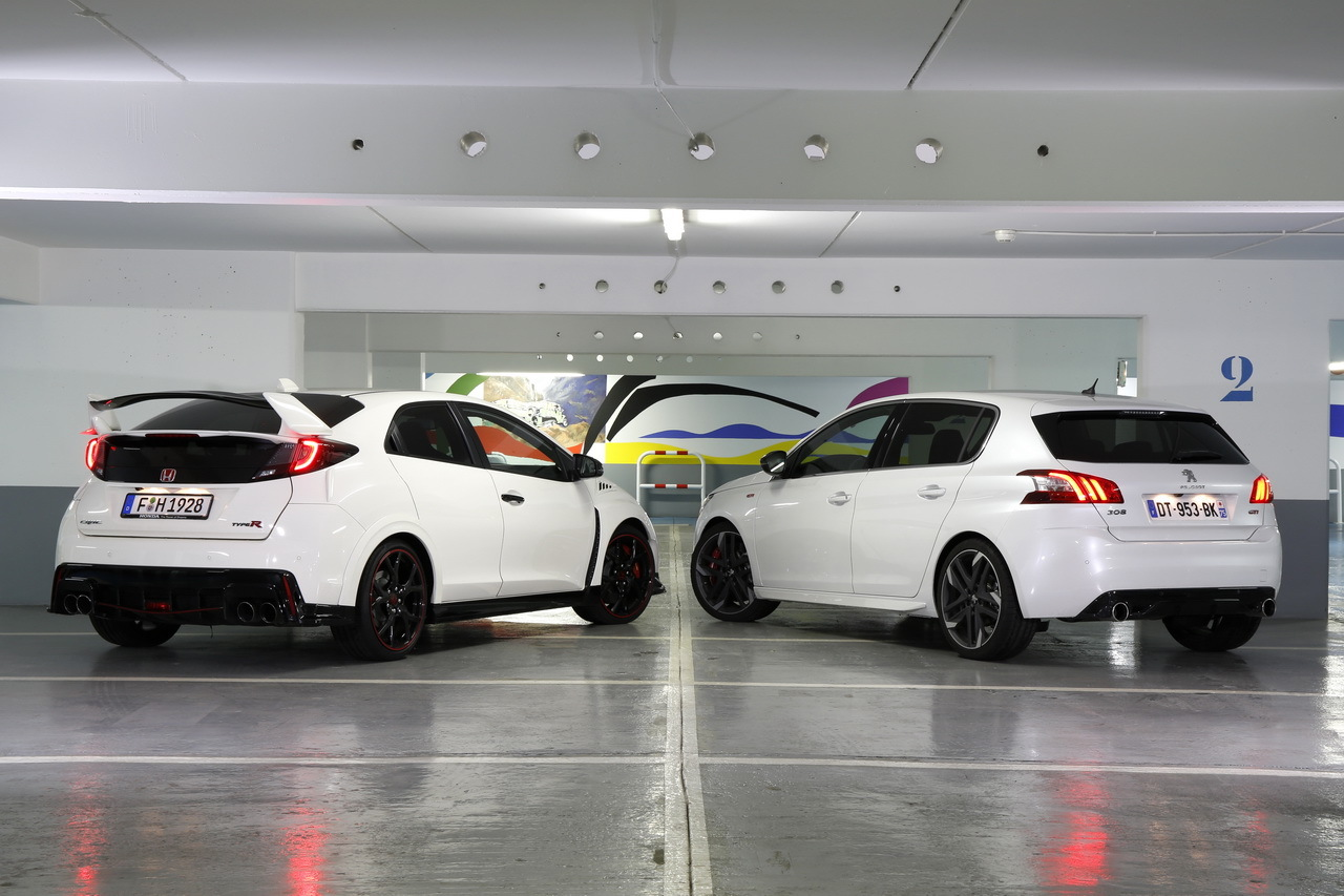 essai comparatif honda civic type r vs peugeot 308 gti. Black Bedroom Furniture Sets. Home Design Ideas