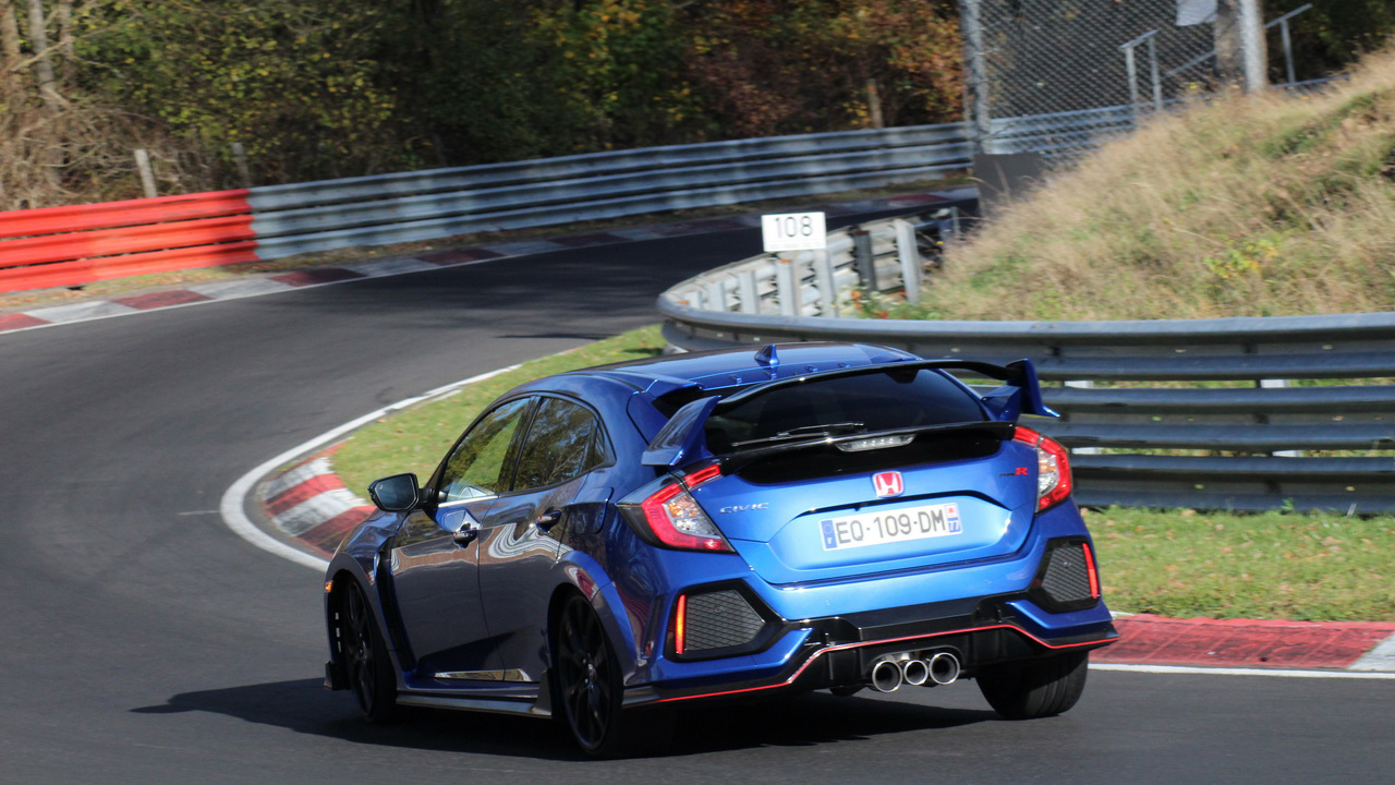 essai honda civic type r 2018 le test au n rburgring et. Black Bedroom Furniture Sets. Home Design Ideas