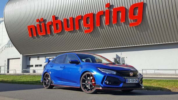 Honda Civic Type R 2018 Nürburgring statique avant droit