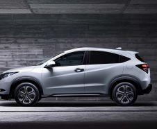 Nouveau Honda HR-V blanc profil gauche