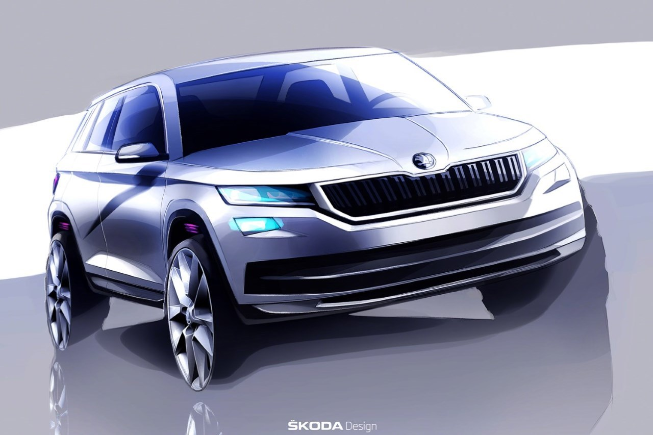 skoda kodiaq 2017 illustrations officielles et teaser. Black Bedroom Furniture Sets. Home Design Ideas