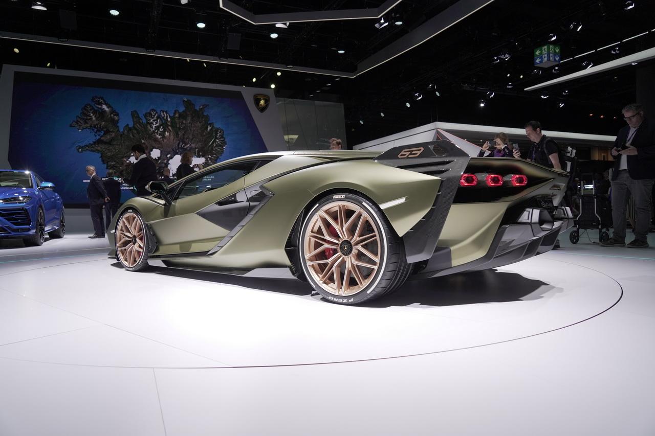 La Sian électrise le stand Lamborghini à Francfort