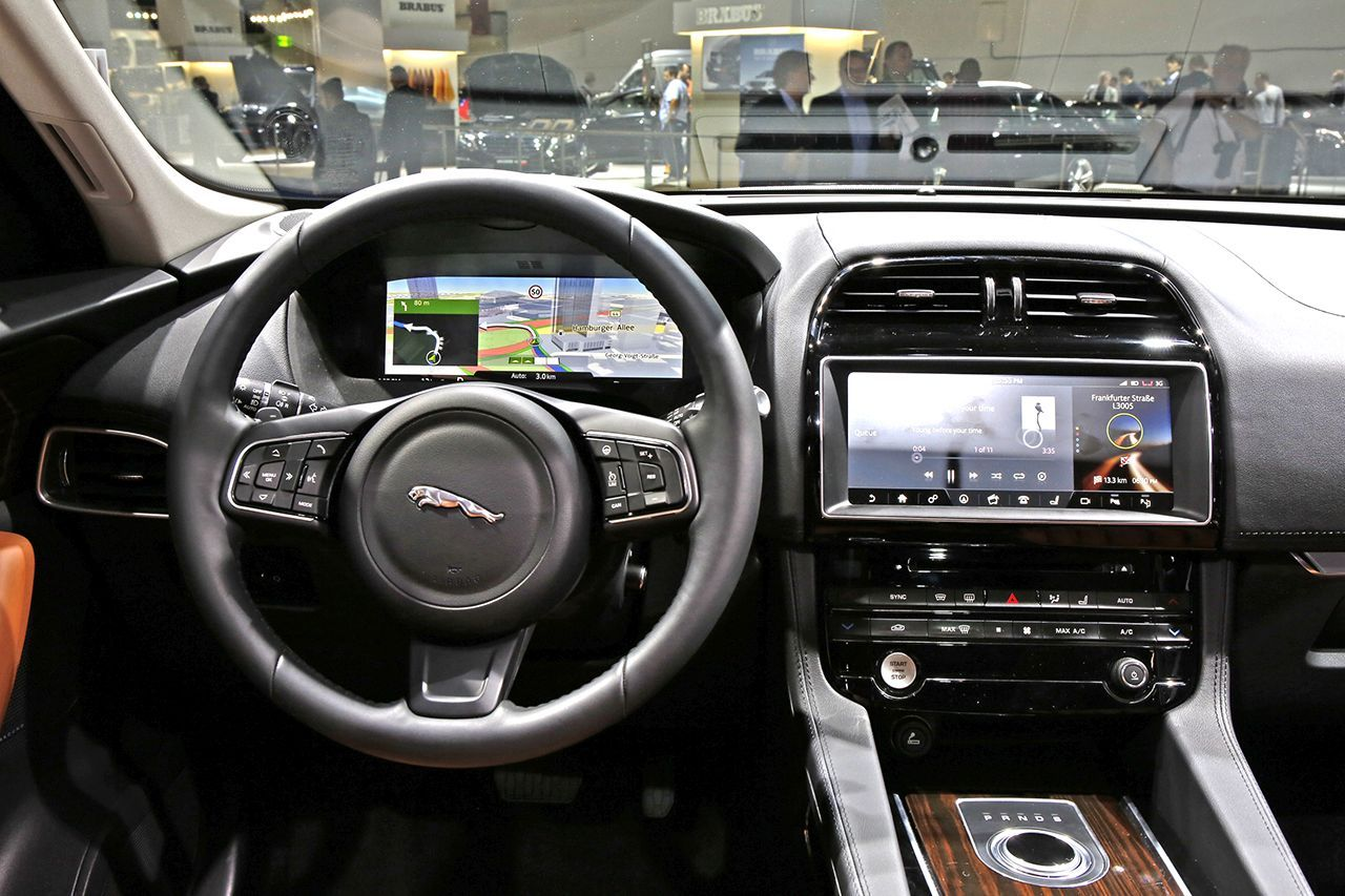 francfort 2015 fiches techniques du nouveau suv jaguar f pace 2016 photo 23 l 39 argus. Black Bedroom Furniture Sets. Home Design Ideas