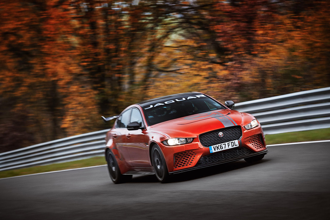 la jaguar xe sv project 8 nouvelle berline la plus rapide sur le ring photo 1 l 39 argus. Black Bedroom Furniture Sets. Home Design Ideas