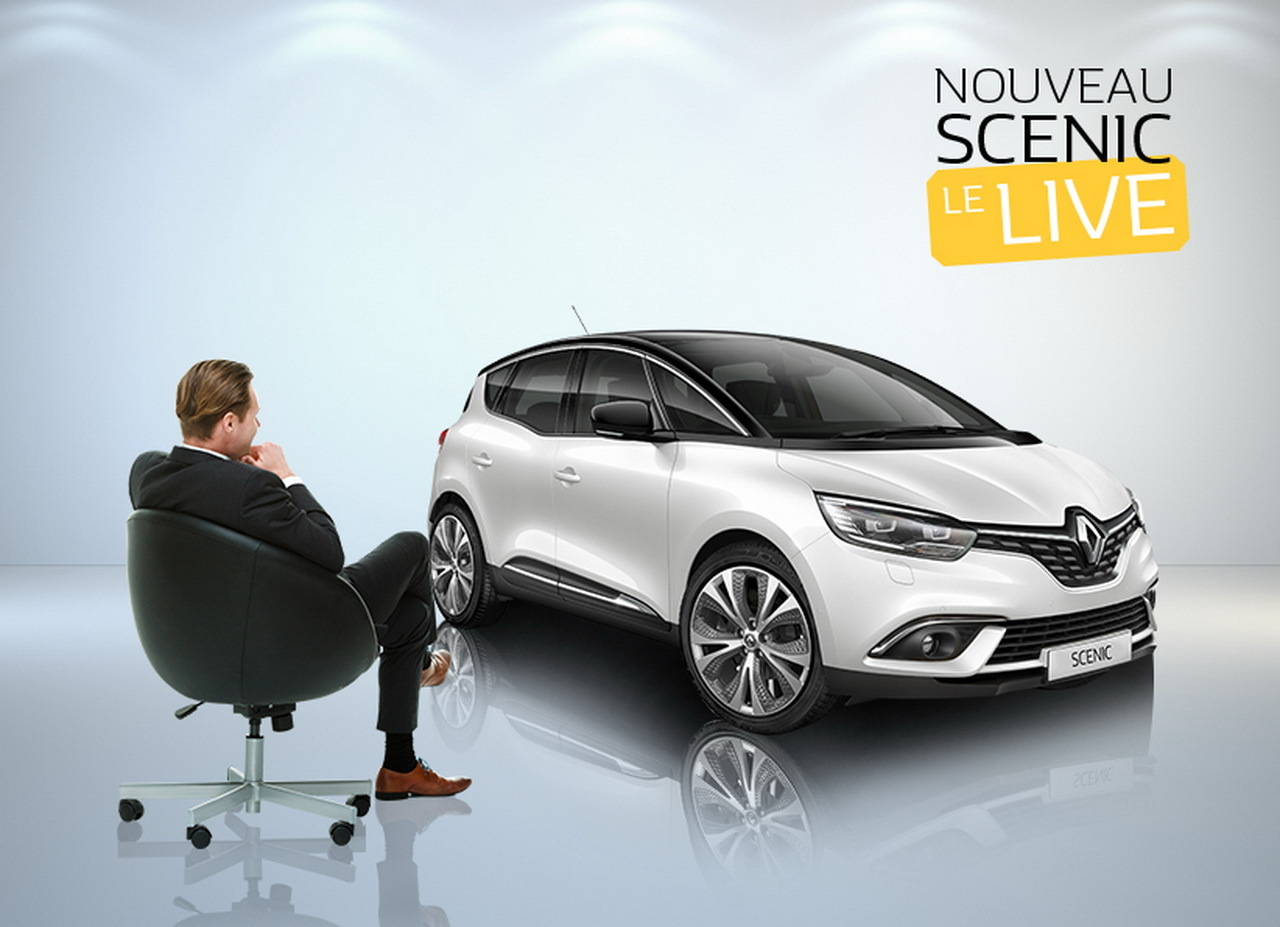 nouveau renault scenic d couvrez le en avant premi re et en live l 39 argus. Black Bedroom Furniture Sets. Home Design Ideas