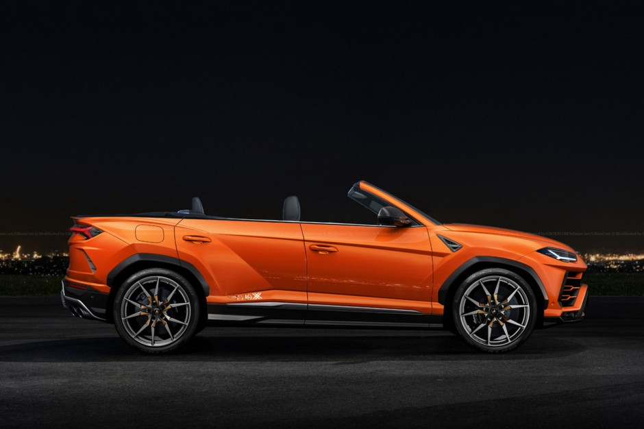 les bagnoles insolites de 2017 lamborghini urus cabriolet l 39 argus. Black Bedroom Furniture Sets. Home Design Ideas