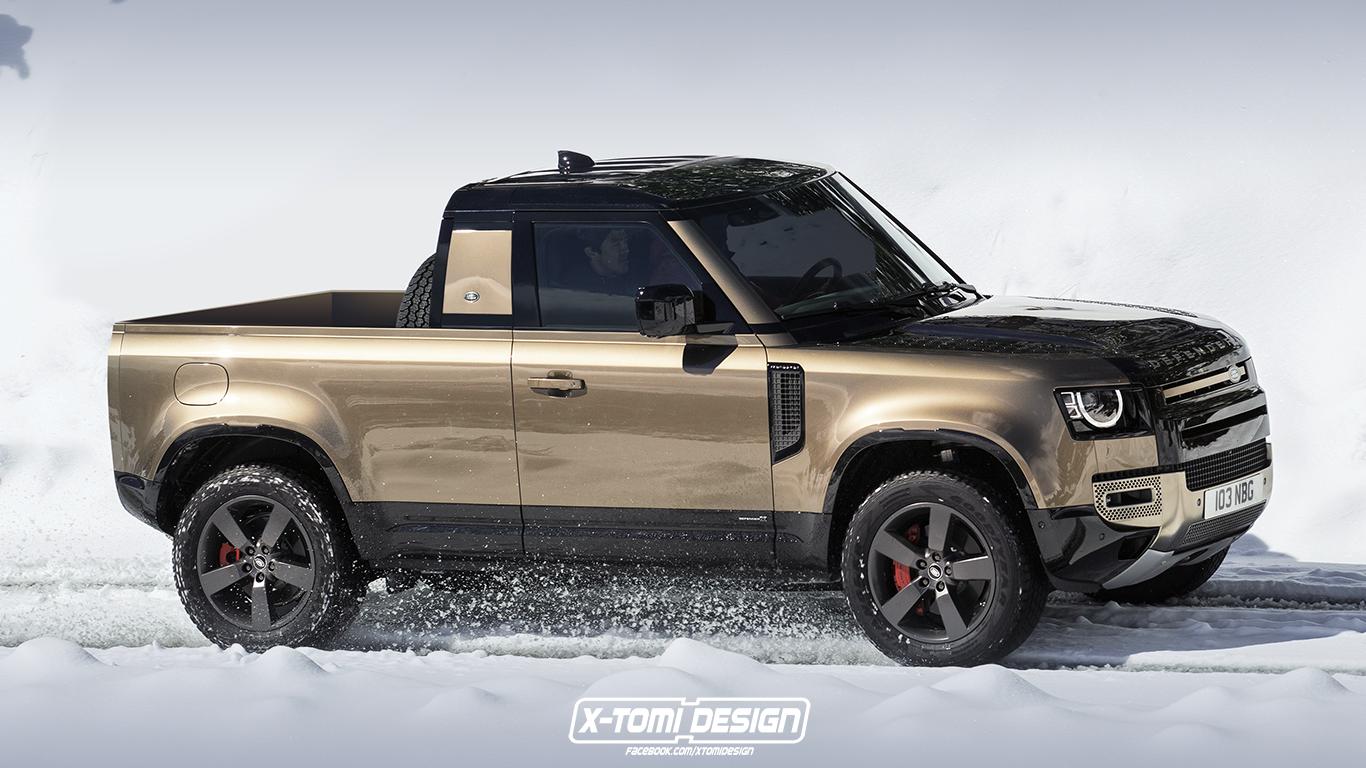 Land Rover Defender 2019 : une version pick-up imaginée par X-Tomi