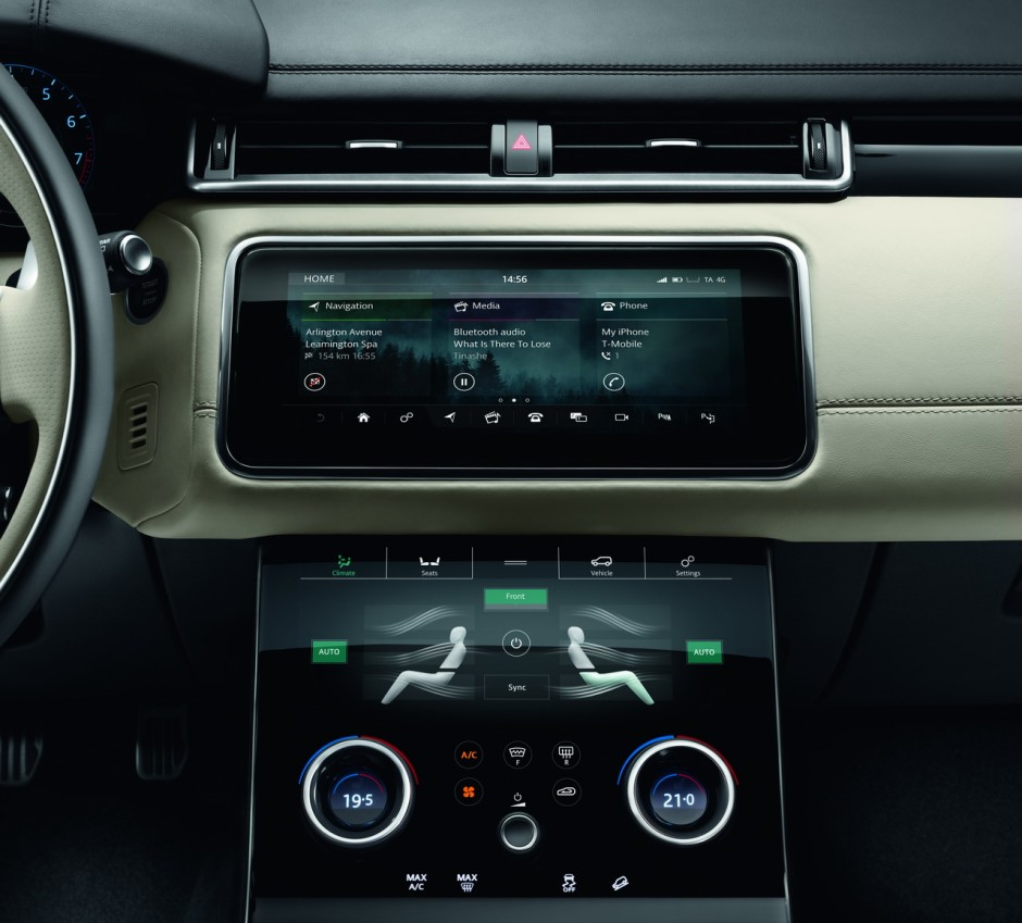 range rover velar 2017 l 39 d j bord du nouveau coup suv photo 7 l 39 argus. Black Bedroom Furniture Sets. Home Design Ideas