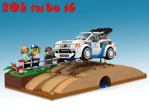 lego s 39 attaque la peugeot 205 turbo 16 l 39 argus. Black Bedroom Furniture Sets. Home Design Ideas
