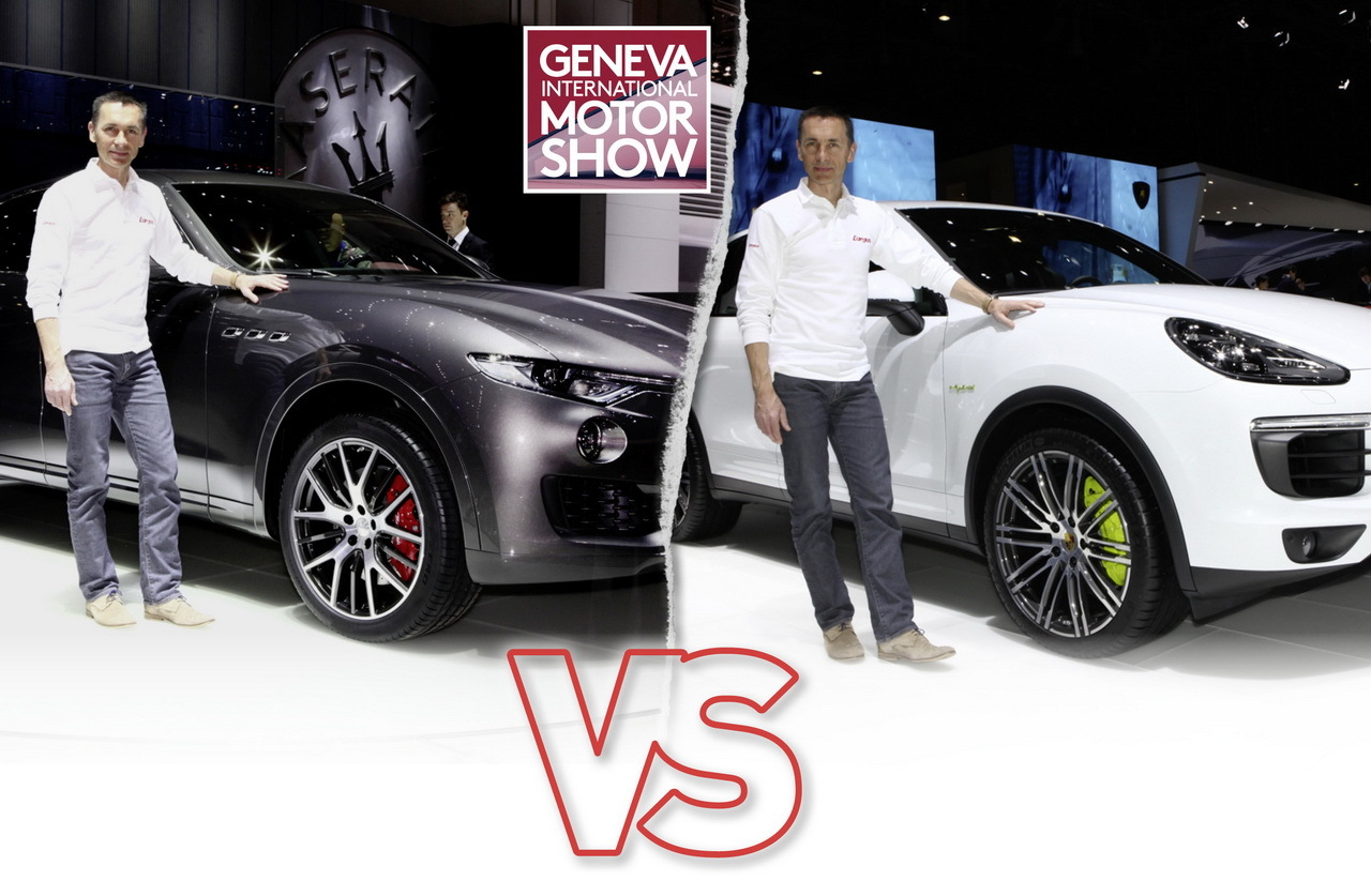 maserati levante vs porsche cayenne le choc du salon de. Black Bedroom Furniture Sets. Home Design Ideas