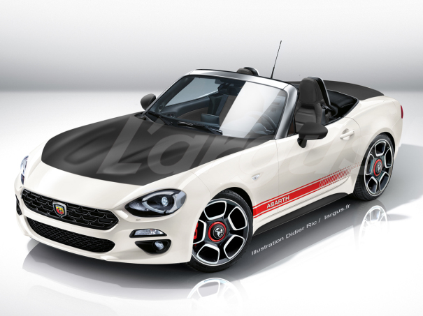 illustration photomontage future abarth 124 spider vue avant. Black Bedroom Furniture Sets. Home Design Ideas