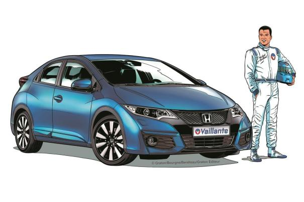 Honda Civic Vaillante : un clin d'�il � Michel Vaillant