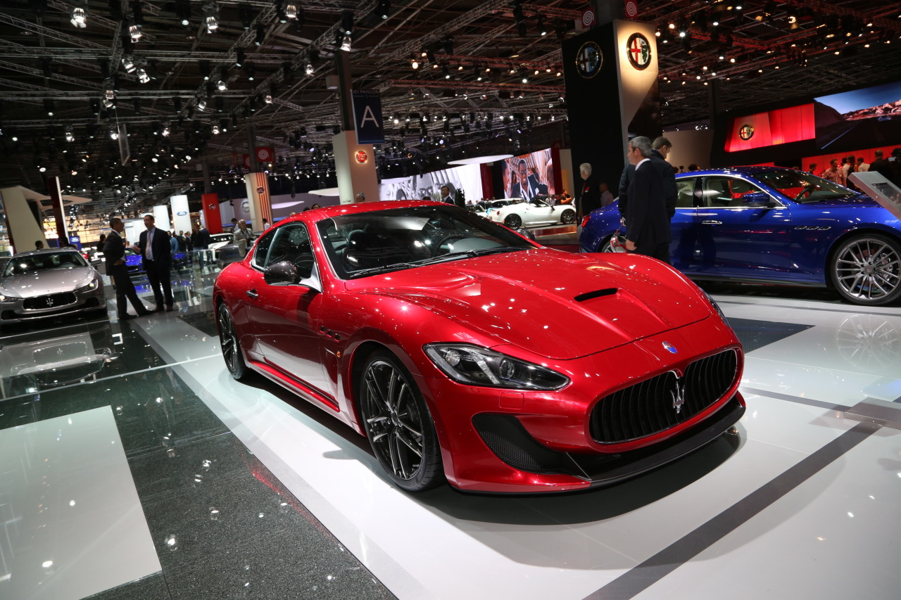 mondial auto 2014 maserati granturismo centennial edition l 39 argus. Black Bedroom Furniture Sets. Home Design Ideas