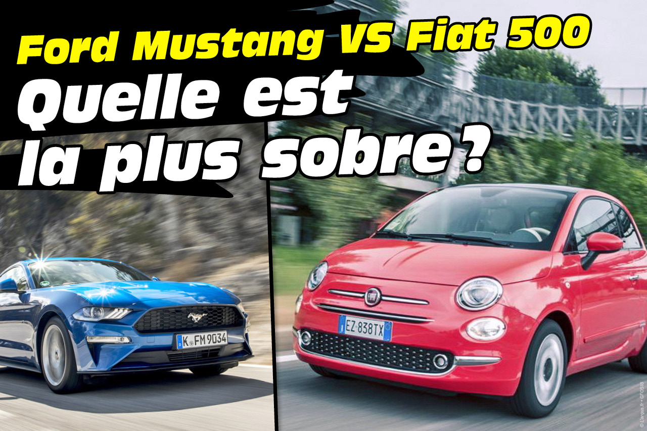 fiat 500 twinair vs ford mustang v8 laquelle consomme le moins photo 1 l 39 argus. Black Bedroom Furniture Sets. Home Design Ideas