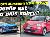 Fiat 500 Twinair vs Ford Mustang V8. Laquelle consomme le moins ?