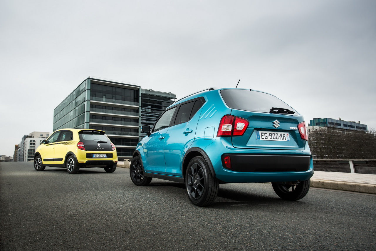 essai comparatif la suzuki ignis d fie la renault twingo. Black Bedroom Furniture Sets. Home Design Ideas