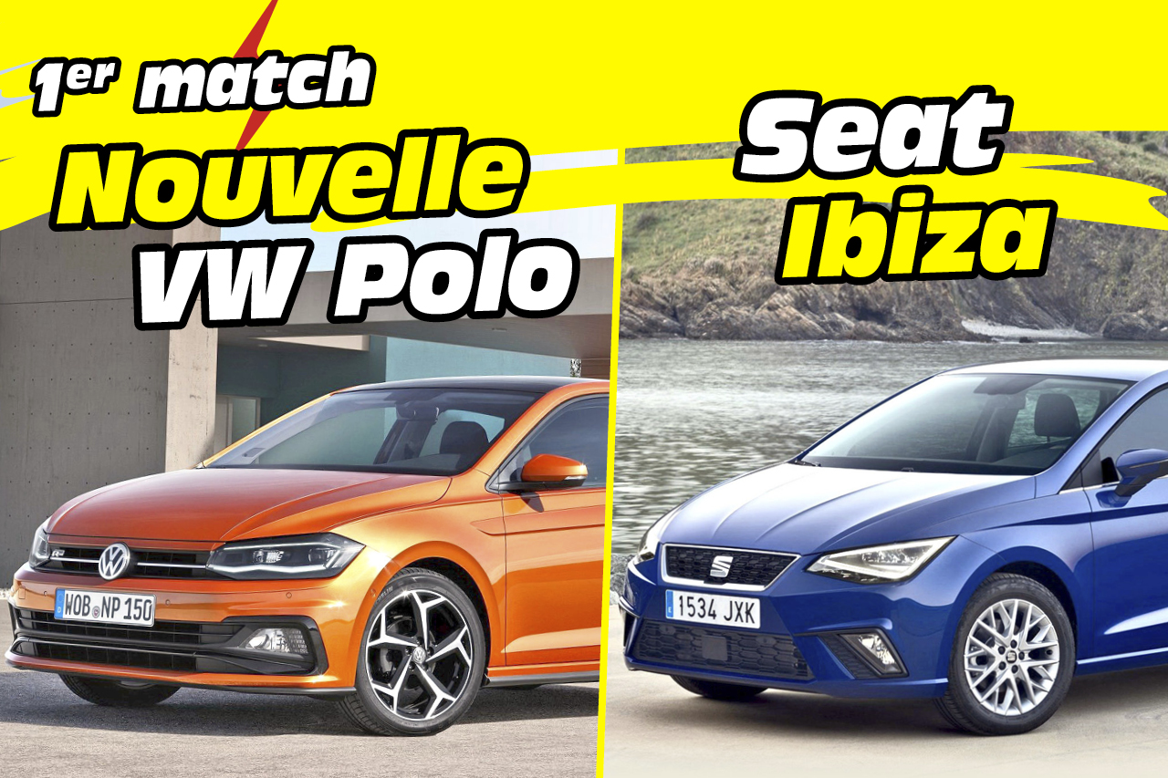 nouvelle volkswagen polo 6 vs seat ibiza premier match en images volkswagen polo 6 vs seat. Black Bedroom Furniture Sets. Home Design Ideas