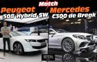 Match Peugeot 508 SW Hybrid vs Mercedes C 300 de Plug-In Hybrid Break