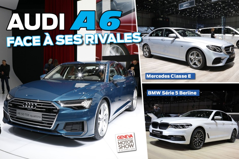 la nouvelle audi a6 2018 face ses rivales photo 1 l 39 argus. Black Bedroom Furniture Sets. Home Design Ideas