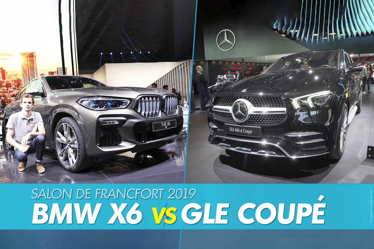 BMW X6 (2019) vs Mercedes GLE Coupé (2020) : le match depuis Francfort