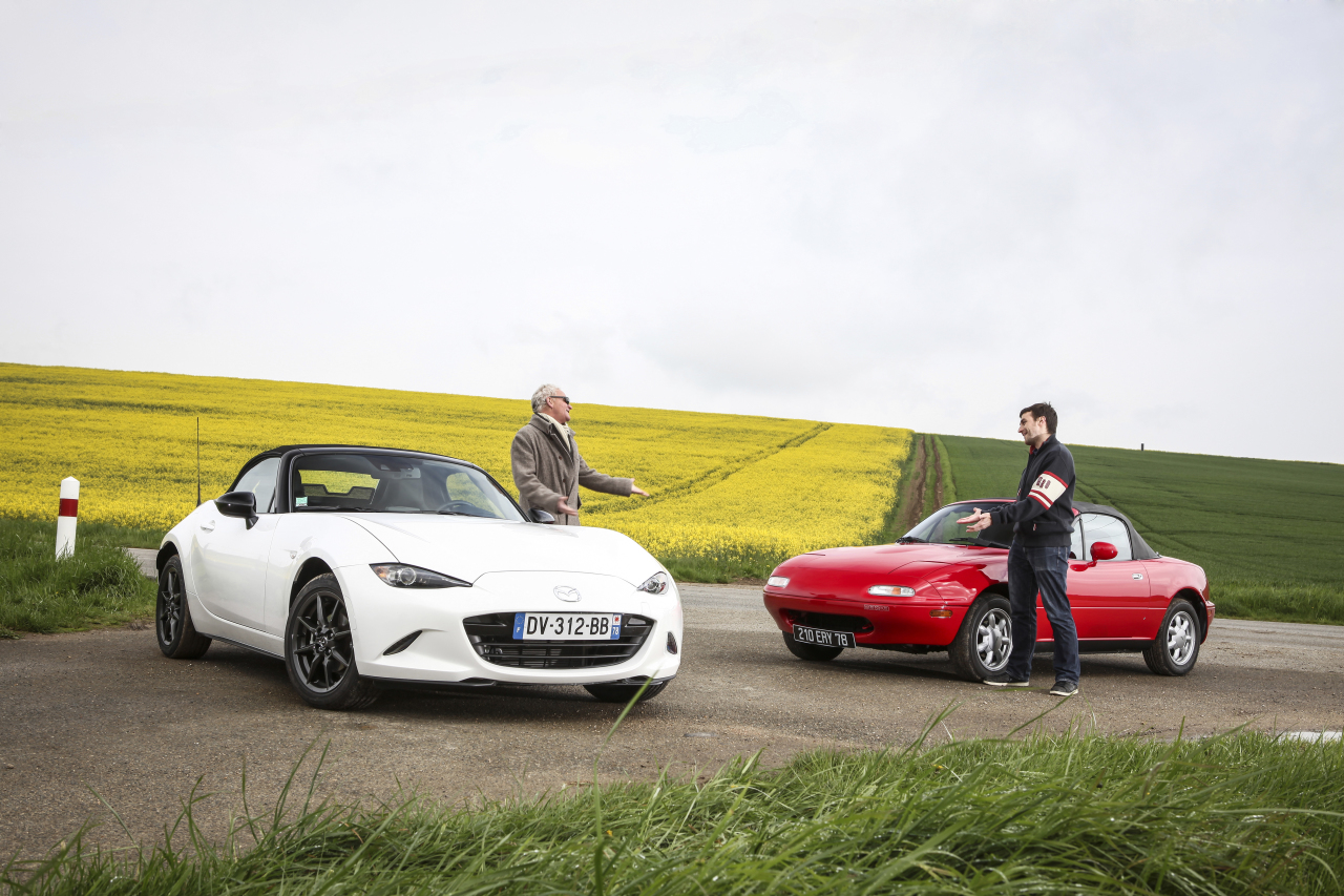 essai mazda mx 5 na vs mazda mx 5 nd le match des g n rations l 39 argus. Black Bedroom Furniture Sets. Home Design Ideas