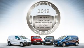 Les fourgonnettes de PSA élues Van of the Year 2019