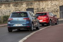 Renault Mégane vs Volkswagen Golf : le duel France Allemagne en photos